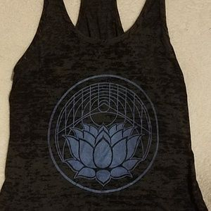 Urban Outfitters Tops - Blue lotus print burnout tank